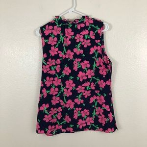 Lilly Pulitzer Tops - Lilly Pulitzer Floral Ruffle Sleeveless Blouse